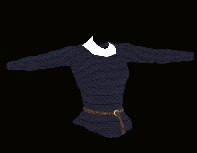 Female Blue Sweater Model