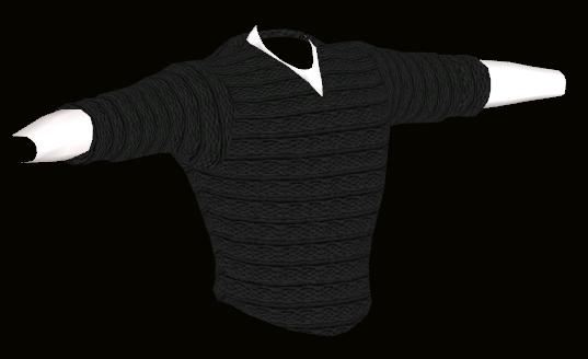 Male Grey Sweater Model