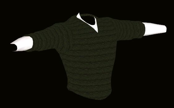 Male Green Sweater Model