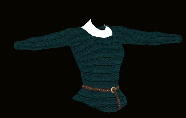 Female Teal Sweater Model